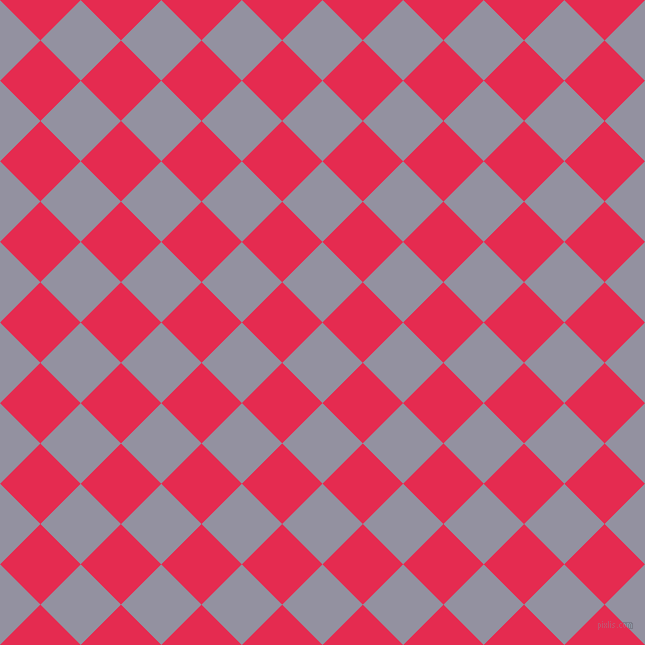 45/135 degree angle diagonal checkered chequered squares checker pattern checkers background, 57 pixel squares size, , Grey Suit and Amaranth checkers chequered checkered squares seamless tileable