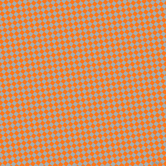 54/144 degree angle diagonal checkered chequered squares checker pattern checkers background, 13 pixel squares size, , Gull Grey and Pumpkin checkers chequered checkered squares seamless tileable