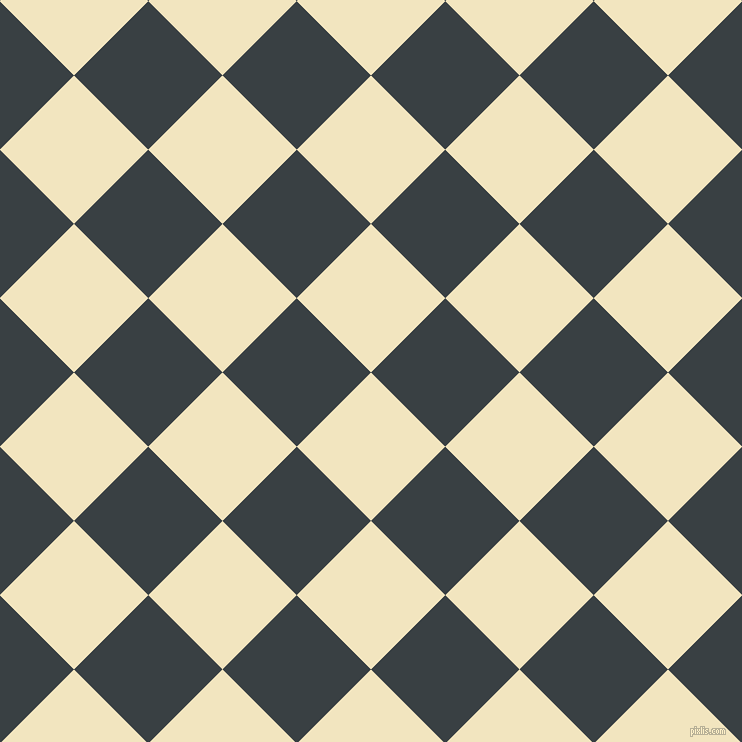 45/135 degree angle diagonal checkered chequered squares checker pattern checkers background, 105 pixel square size, , Half Colonial White and Charade checkers chequered checkered squares seamless tileable