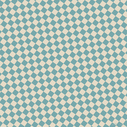 54/144 degree angle diagonal checkered chequered squares checker pattern checkers background, 16 pixel squares size, , Half Spanish White and Neptune checkers chequered checkered squares seamless tileable