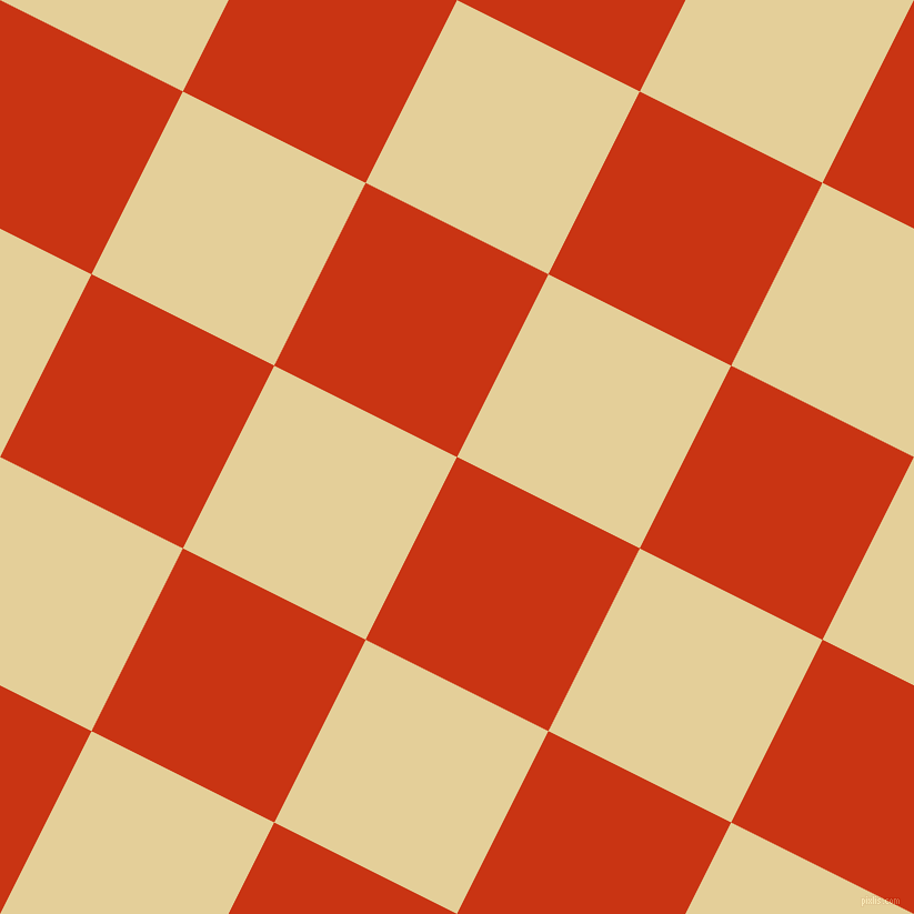 63/153 degree angle diagonal checkered chequered squares checker pattern checkers background, 184 pixel square size, Harley Davidson Orange and Double Colonial White checkers chequered checkered squares seamless tileable