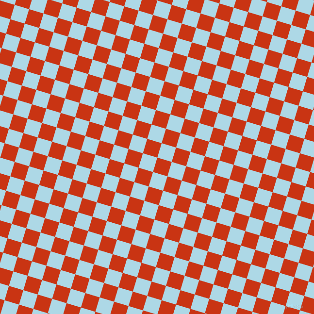 73/163 degree angle diagonal checkered chequered squares checker pattern checkers background, 31 pixel square size, , Harley Davidson Orange and Light Blue checkers chequered checkered squares seamless tileable