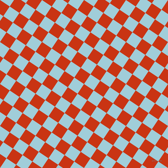 56/146 degree angle diagonal checkered chequered squares checker pattern checkers background, 40 pixel square size, , Harley Davidson Orange and Regent St Blue checkers chequered checkered squares seamless tileable