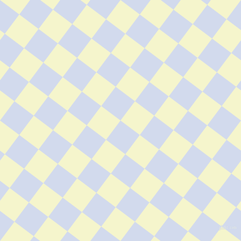 53/143 degree angle diagonal checkered chequered squares checker pattern checkers background, 48 pixel squares size, , Hawkes Blue and Mimosa checkers chequered checkered squares seamless tileable