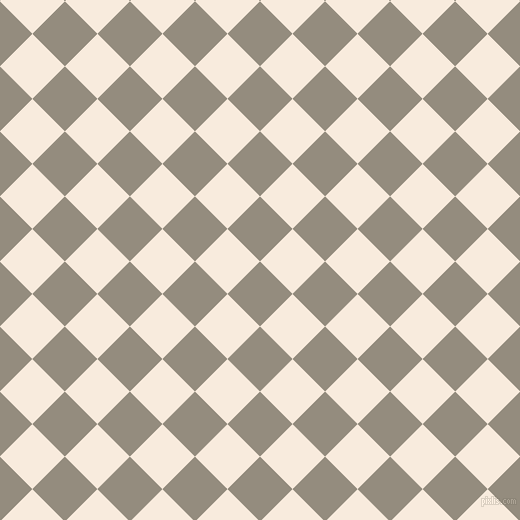 45/135 degree angle diagonal checkered chequered squares checker pattern checkers background, 46 pixel squares size, , Heathered Grey and Bridal Heath checkers chequered checkered squares seamless tileable
