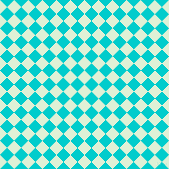 45/135 degree angle diagonal checkered chequered squares checker pattern checkers background, 34 pixel squares size, , Hint Of Green and Robin