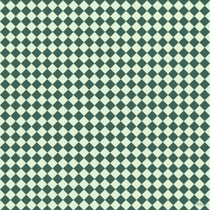 45/135 degree angle diagonal checkered chequered squares checker pattern checkers background, 25 pixel squares size, , Hint Of Green and Stromboli checkers chequered checkered squares seamless tileable