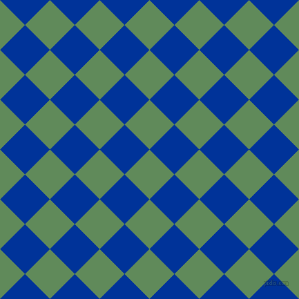 45/135 degree angle diagonal checkered chequered squares checker pattern checkers background, 51 pixel squares size, , Hippie Green and Smalt checkers chequered checkered squares seamless tileable