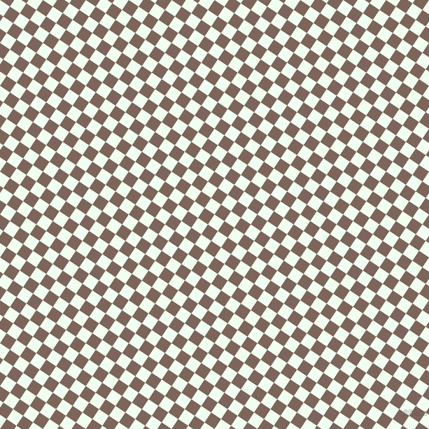 56/146 degree angle diagonal checkered chequered squares checker pattern checkers background, 17 pixel square size, , Honeydew and Russett checkers chequered checkered squares seamless tileable