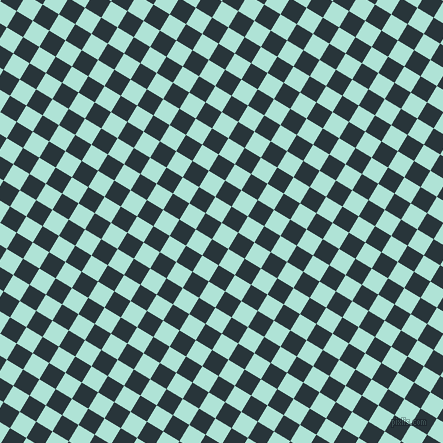59/149 degree angle diagonal checkered chequered squares checker pattern checkers background, 19 pixel squares size, Ice Cold and Oxford Blue checkers chequered checkered squares seamless tileable