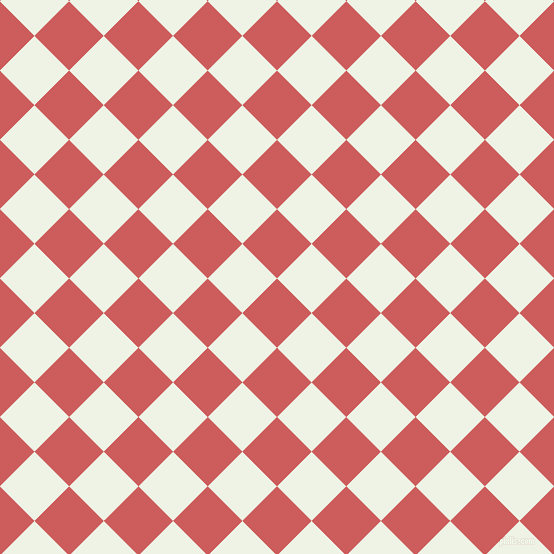45/135 degree angle diagonal checkered chequered squares checker pattern checkers background, 49 pixel square size, , Indian Red and Saltpan checkers chequered checkered squares seamless tileable