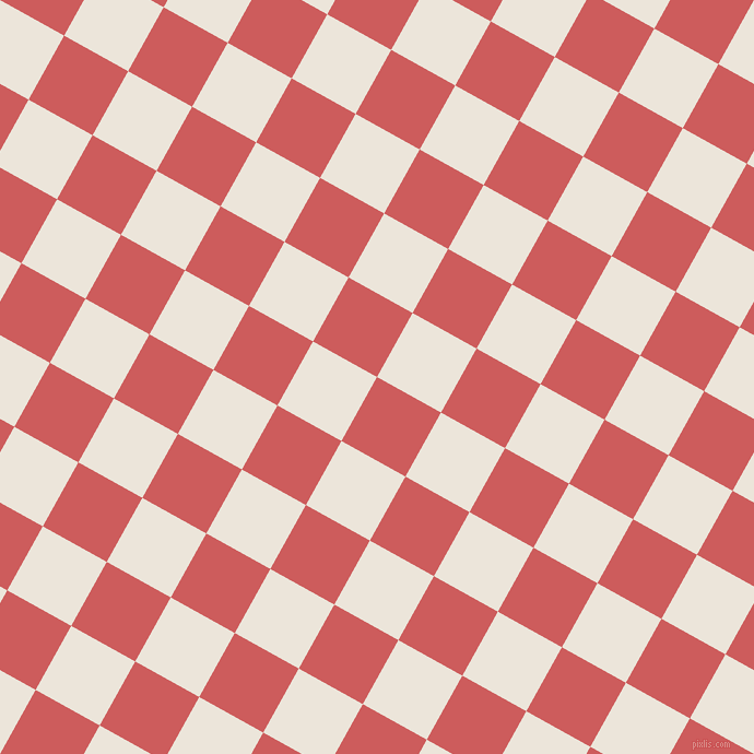 61/151 degree angle diagonal checkered chequered squares checker pattern checkers background, 67 pixel square size, , Indian Red and Soapstone checkers chequered checkered squares seamless tileable