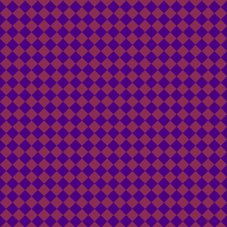 45/135 degree angle diagonal checkered chequered squares checker pattern checkers background, 18 pixel squares size, , Indigo and Rose Bud Cherry checkers chequered checkered squares seamless tileable