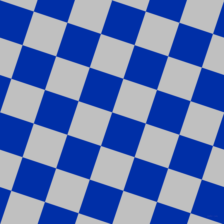 72/162 degree angle diagonal checkered chequered squares checker pattern checkers background, 121 pixel square size, , International Klein Blue and Silver checkers chequered checkered squares seamless tileable