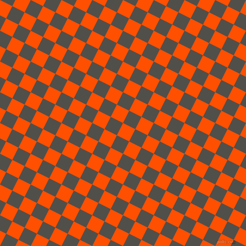 63/153 degree angle diagonal checkered chequered squares checker pattern checkers background, 27 pixel squares size, , International Orange and Dune checkers chequered checkered squares seamless tileable