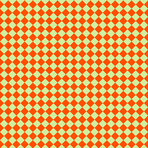 45/135 degree angle diagonal checkered chequered squares checker pattern checkers background, 20 pixel square size, , International Orange and Reef checkers chequered checkered squares seamless tileable