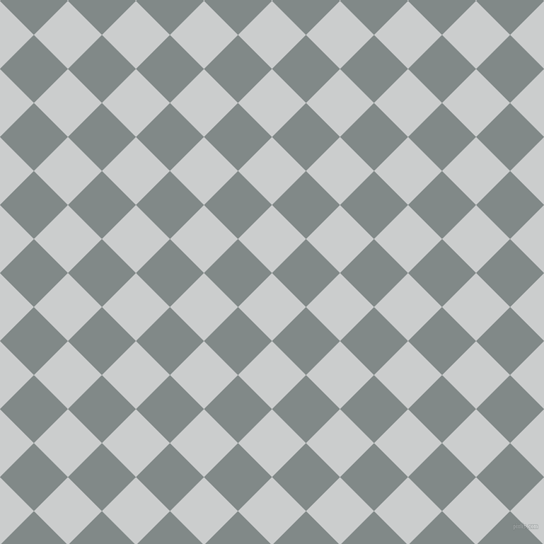 45/135 degree angle diagonal checkered chequered squares checker pattern checkers background, 68 pixel square size, , Iron and Oslo Grey checkers chequered checkered squares seamless tileable