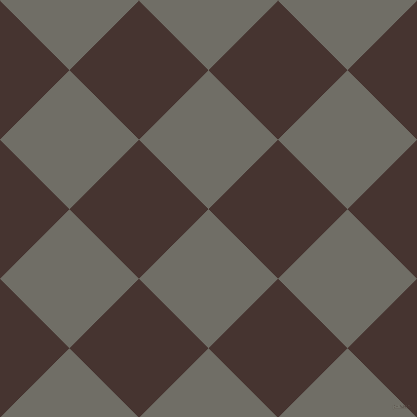 45/135 degree angle diagonal checkered chequered squares checker pattern checkers background, 194 pixel squares size, , Ironside Grey and Cedar checkers chequered checkered squares seamless tileable