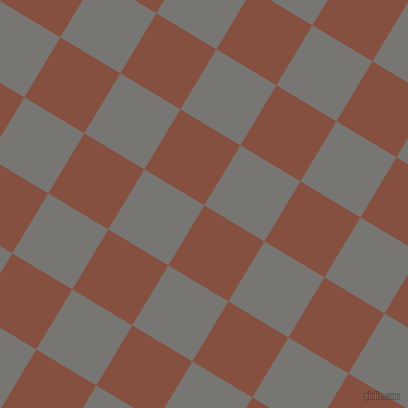 59/149 degree angle diagonal checkered chequered squares checker pattern checkers background, 70 pixel squares size, , Ironstone and Dove Grey checkers chequered checkered squares seamless tileable