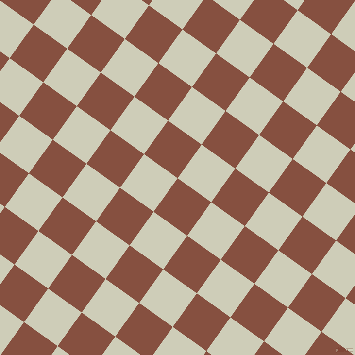 54/144 degree angle diagonal checkered chequered squares checker pattern checkers background, 85 pixel squares size, , Ironstone and Moon Mist checkers chequered checkered squares seamless tileable