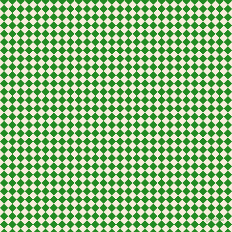 45/135 degree angle diagonal checkered chequered squares checker pattern checkers background, 12 pixel square size, , Island Spice and Forest Green checkers chequered checkered squares seamless tileable