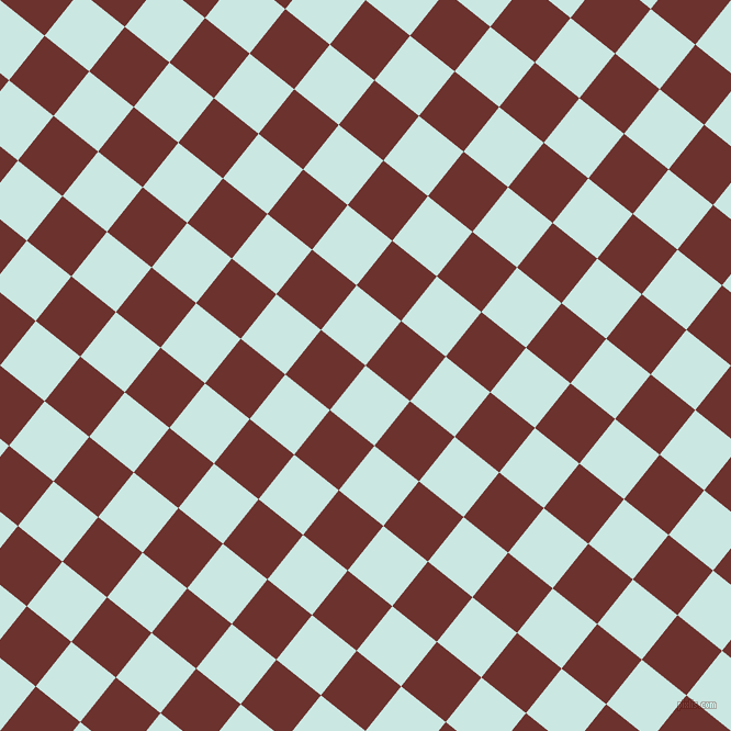 51/141 degree angle diagonal checkered chequered squares checker pattern checkers background, 52 pixel square size, Jagged Ice and Kenyan Copper checkers chequered checkered squares seamless tileable
