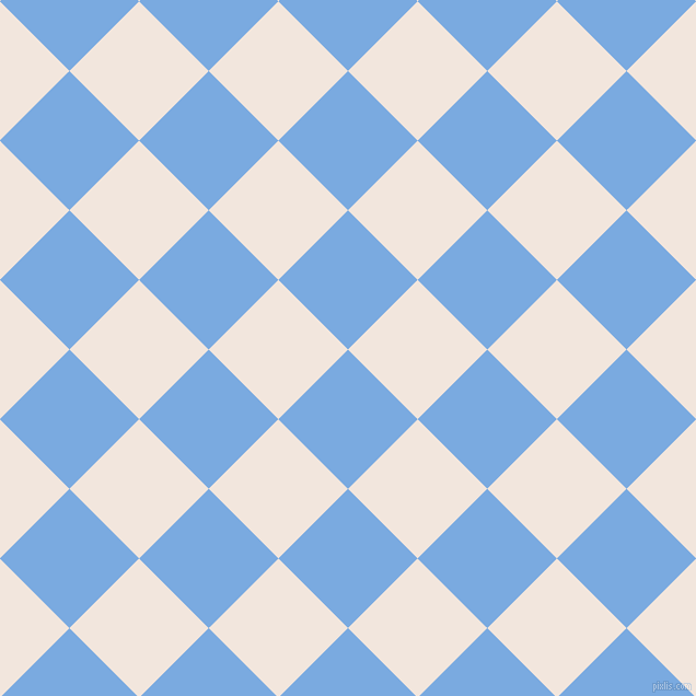 45/135 degree angle diagonal checkered chequered squares checker pattern checkers background, 90 pixel square size, Jordy Blue and Fantasy checkers chequered checkered squares seamless tileable
