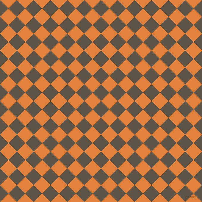 45/135 degree angle diagonal checkered chequered squares checker pattern checkers background, 40 pixel square size, , Judge Grey and Tree Poppy checkers chequered checkered squares seamless tileable
