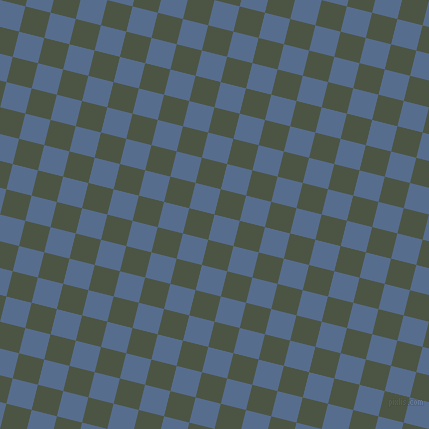 76/166 degree angle diagonal checkered chequered squares checker pattern checkers background, 26 pixel square size, , Kashmir Blue and Cabbage Pont checkers chequered checkered squares seamless tileable