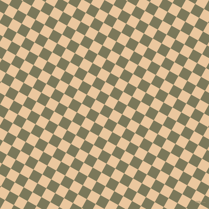 61/151 degree angle diagonal checkered chequered squares checker pattern checkers background, 35 pixel square size, , Kokoda and New Tan checkers chequered checkered squares seamless tileable