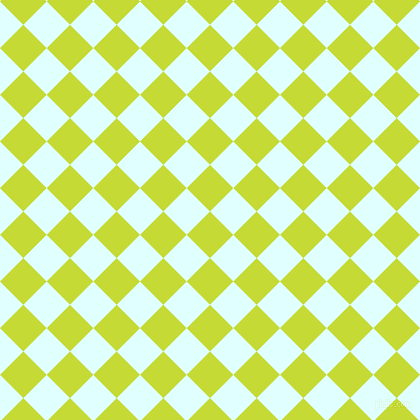 45/135 degree angle diagonal checkered chequered squares checker pattern checkers background, 33 pixel squares size, , Las Palmas and Light Cyan checkers chequered checkered squares seamless tileable
