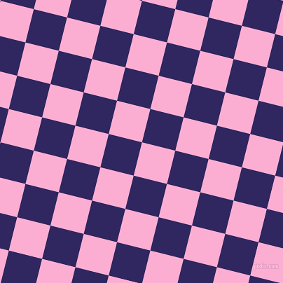 76/166 degree angle diagonal checkered chequered squares checker pattern checkers background, 49 pixel squares size, , Lavender Pink and Paris M checkers chequered checkered squares seamless tileable