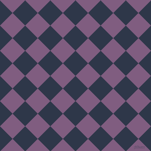 45/135 degree angle diagonal checkered chequered squares checker pattern checkers background, 60 pixel squares size, , Licorice and Trendy Pink checkers chequered checkered squares seamless tileable
