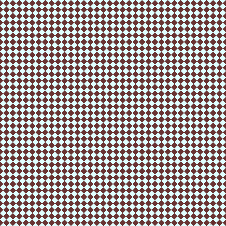 45/135 degree angle diagonal checkered chequered squares checker pattern checkers background, 16 pixel square size, , Light Cyan and Persian Plum checkers chequered checkered squares seamless tileable