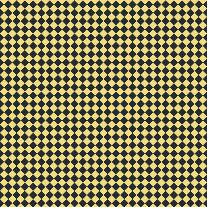45/135 degree angle diagonal checkered chequered squares checker pattern checkers background, 20 pixel square size, , Light Goldenrod and Blue Charcoal checkers chequered checkered squares seamless tileable