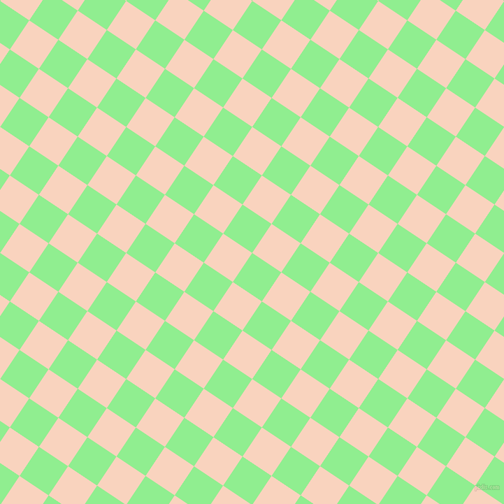 56/146 degree angle diagonal checkered chequered squares checker pattern checkers background, 50 pixel squares size, , Light Green and Tuft Bush checkers chequered checkered squares seamless tileable