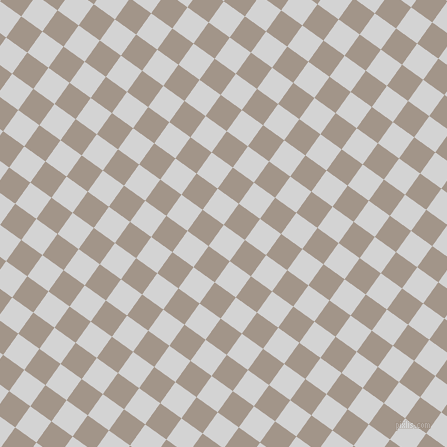 54/144 degree angle diagonal checkered chequered squares checker pattern checkers background, 26 pixel square size, , Light Grey and Zorba checkers chequered checkered squares seamless tileable