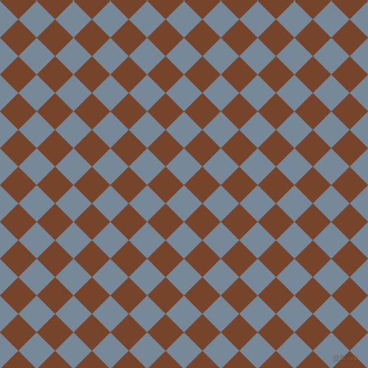 45/135 degree angle diagonal checkered chequered squares checker pattern checkers background, 37 pixel square size, , Light Slate Grey and Bull Shot checkers chequered checkered squares seamless tileable