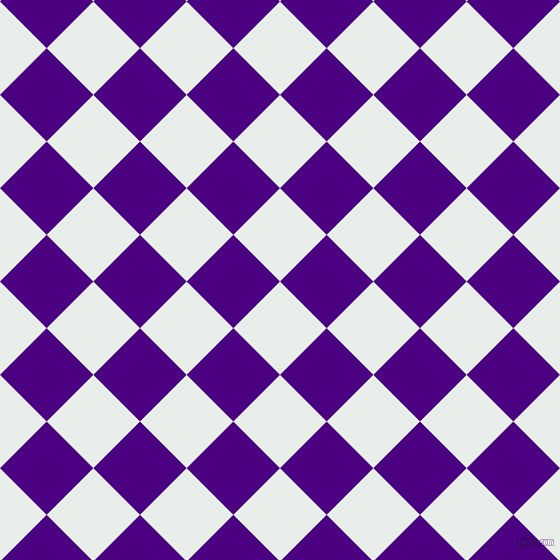 45/135 degree angle diagonal checkered chequered squares checker pattern checkers background, 66 pixel square size, , Lily White and Indigo checkers chequered checkered squares seamless tileable