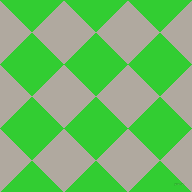 45/135 degree angle diagonal checkered chequered squares checker pattern checkers background, 150 pixel squares size, , Lime Green and Cloudy checkers chequered checkered squares seamless tileable