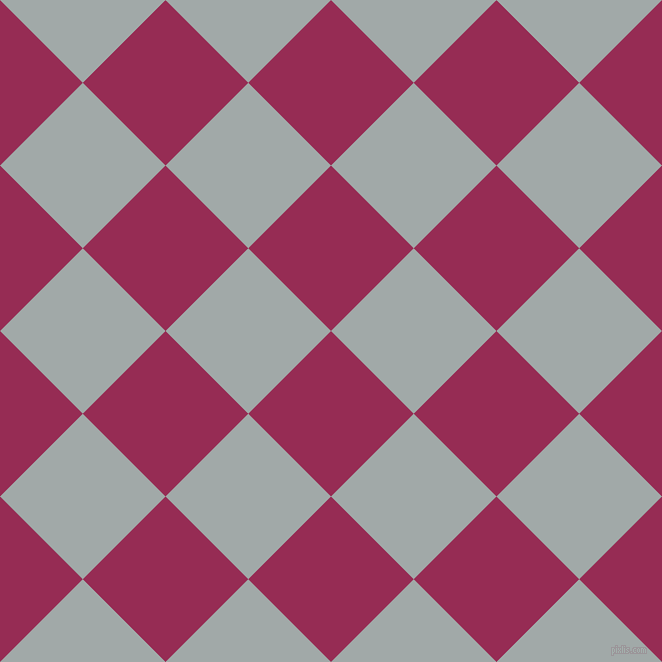 45/135 degree angle diagonal checkered chequered squares checker pattern checkers background, 117 pixel square size, , Lipstick and Hit Grey checkers chequered checkered squares seamless tileable