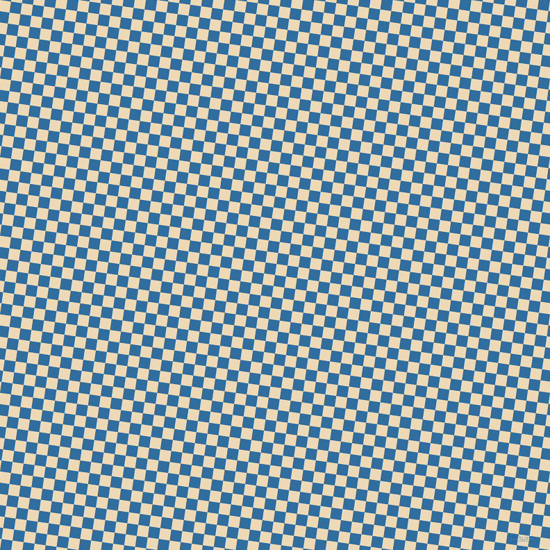 82/172 degree angle diagonal checkered chequered squares checker pattern checkers background, 16 pixel square size, , Lochmara and Champagne checkers chequered checkered squares seamless tileable