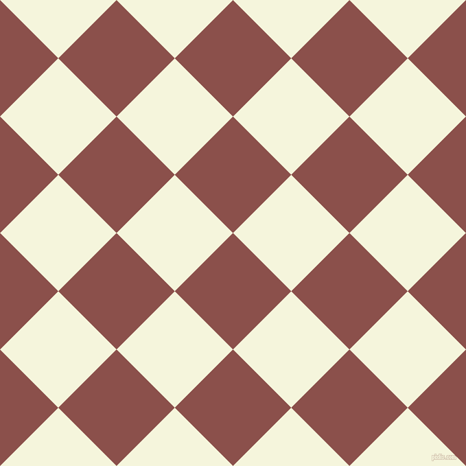 45/135 degree angle diagonal checkered chequered squares checker pattern checkers background, 120 pixel square size, , Lotus and Beige checkers chequered checkered squares seamless tileable