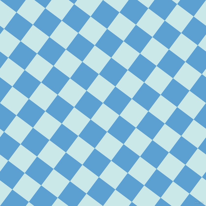53/143 degree angle diagonal checkered chequered squares checker pattern checkers background, 84 pixel squares size, , Mabel and Picton Blue checkers chequered checkered squares seamless tileable
