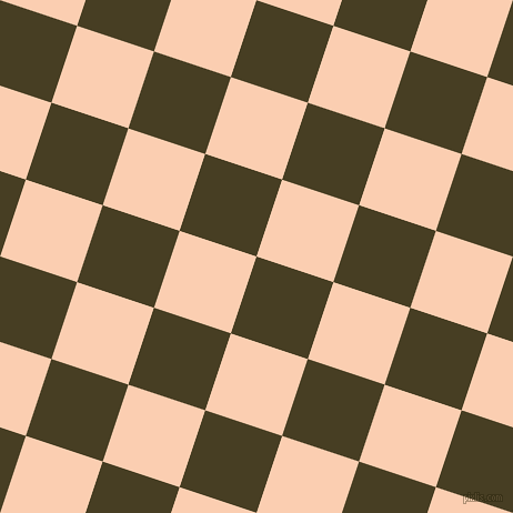 72/162 degree angle diagonal checkered chequered squares checker pattern checkers background, 73 pixel square size, , Madras and Apricot checkers chequered checkered squares seamless tileable