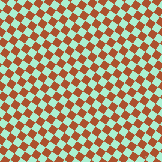 56/146 degree angle diagonal checkered chequered squares checker pattern checkers background, 25 pixel square size, , Magic Mint and Rose Of Sharon checkers chequered checkered squares seamless tileable