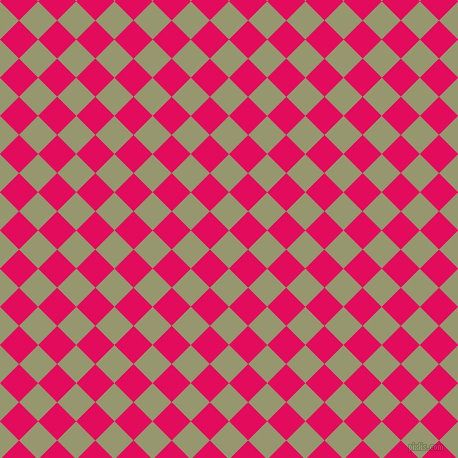 45/135 degree angle diagonal checkered chequered squares checker pattern checkers background, 27 pixel square size, , Malachite Green and Razzmatazz checkers chequered checkered squares seamless tileable