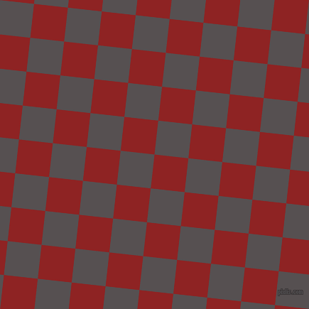 84/174 degree angle diagonal checkered chequered squares checker pattern checkers background, 48 pixel squares size, , Mandarian Orange and Mortar checkers chequered checkered squares seamless tileable