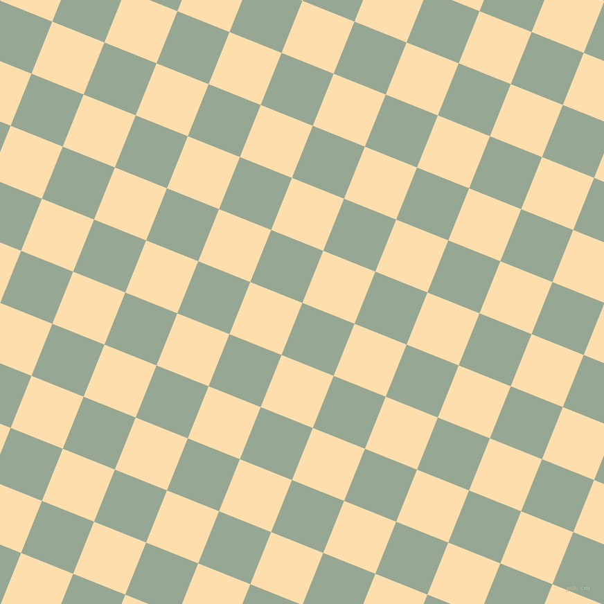 68/158 degree angle diagonal checkered chequered squares checker pattern checkers background, 81 pixel square size, , Mantle and Navajo White checkers chequered checkered squares seamless tileable