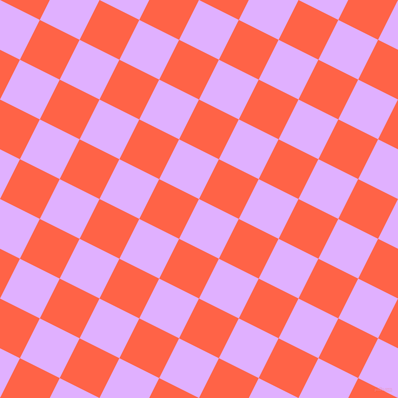 63/153 degree angle diagonal checkered chequered squares checker pattern checkers background, 90 pixel square size, Mauve and Tomato checkers chequered checkered squares seamless tileable